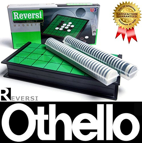 SPJ: Magnet Reversi Classic Table Games Compact Storage Othello (10*10*0.8in)