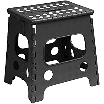 Amazon Com Superior Folding Stool 13 Inch Black Kitchen