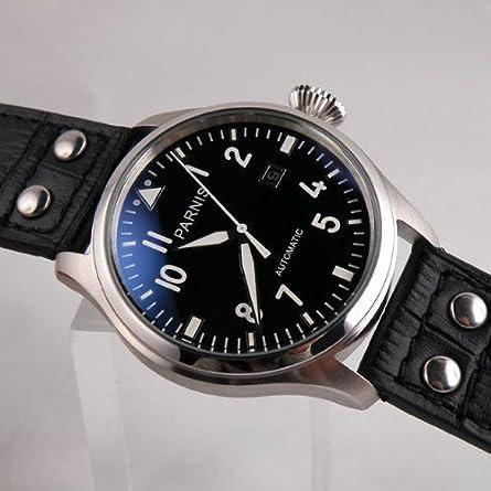 Fanmis 47mm Black Dial Big Pilots Automatic Mechanical Luxury Men s Wrist Watch Luminous Marks