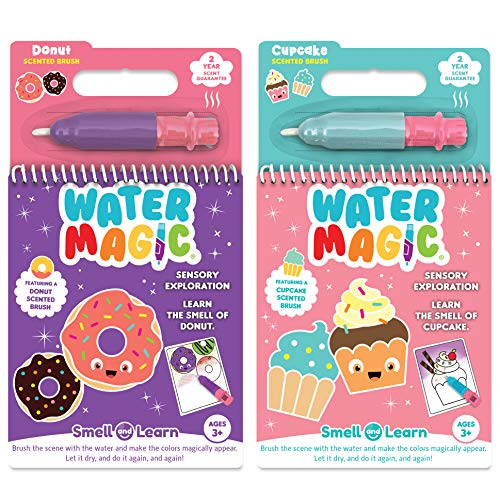 Donut Coloring Page (Scentco Water Magic - Reusable Water Reveal Activity Books - Cupcake and Doughnut Scents)