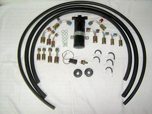 エアコンA/Cホースキット、継手、ドライヤー&バイナリスイッチ、一般的な使用/Ratロッド