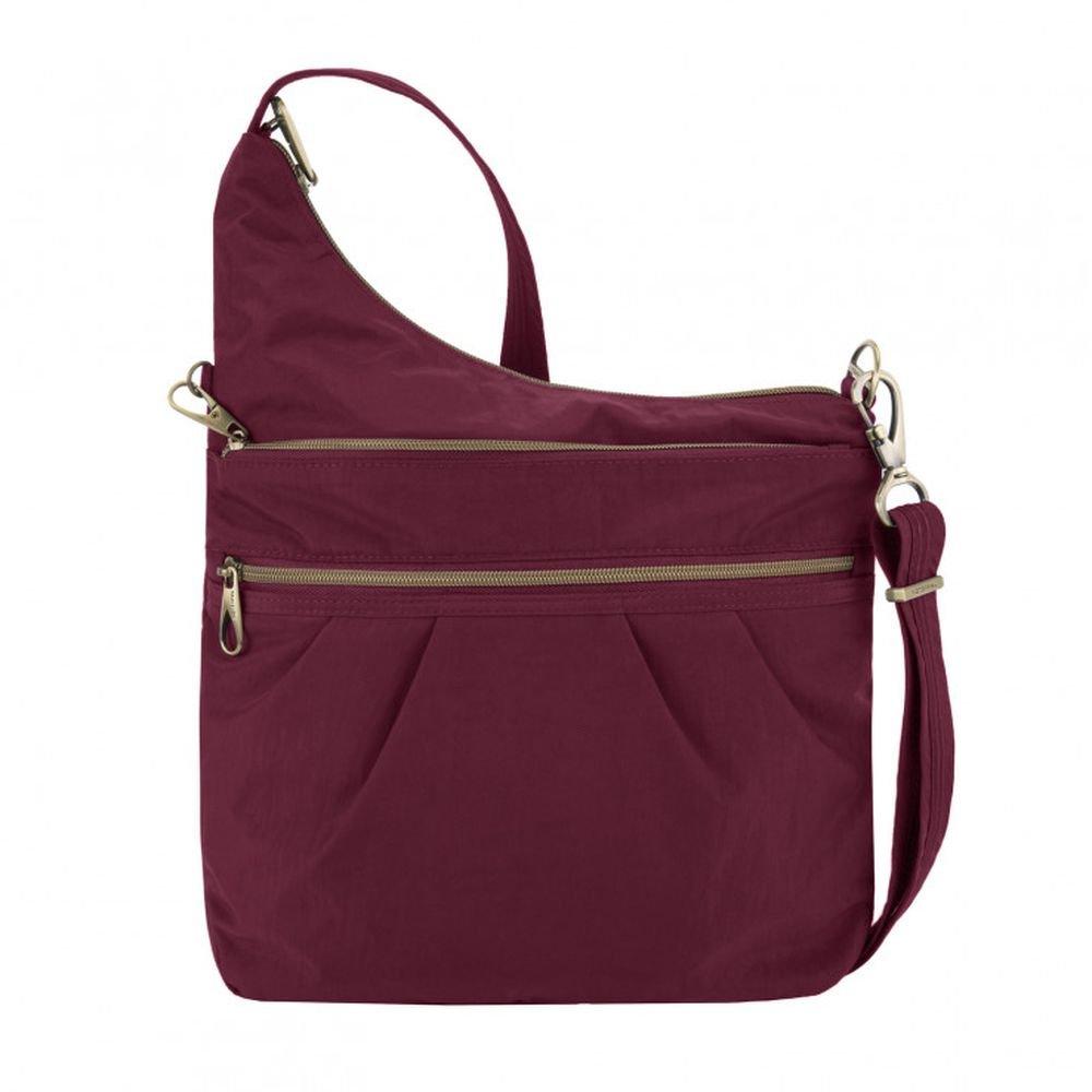 Travelon Anti-theft Signature 3 Compartment Cross Body Bag, Ruby