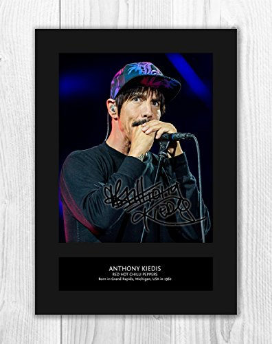 Engravia Digital Red Hot Chili Peppers - Anthony Kiedis 1 MT - Signed Autograph Reproduction Photo A4 Print (Card -