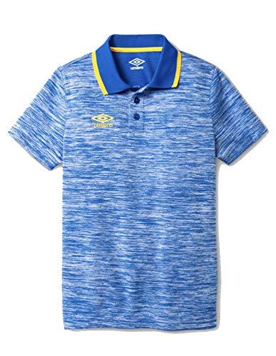 Umbro Boys' Heather Polo Shirt - (Royal Blue, M 8/10)
