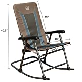 Cheap TIMBER-R Rocking folding Chair patio portable Lightweight Padded support 300lbs camping outdoor