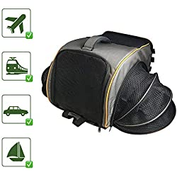 Pet Magasin Pet Travel Carrier Backpack [Airline Approved] Pet Transportation Kennel with Sturdy Structure & Breathable Mesh Window for Cats, Puppies, Small Dogs & Other Small Animals