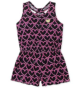 Juicy Couture - Pelele para niña, Black/Pink Print, 2 Años