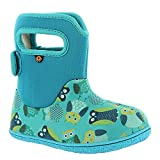 owl rain gear - Bogs Baby Bogs Waterproof Insulated Toddler/Kids Rain Boots for Boys and Girls, Owls Print/Blue/Multi, 4 M US Toddler