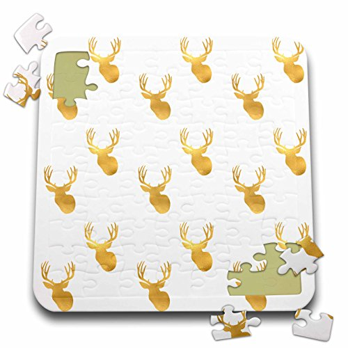 PS Animals - Image of Gold Glitz Deer - 10x10 Inch Puzzle (pzl_274218_2)
