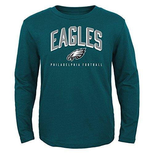 Football Long Sleeve Tee - NFL Philadelphia Eagles Kids Arch Standard Long Sleeve Tee Eagle Green, Kids Large(7)