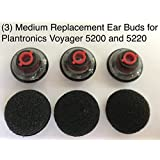 Replacement Ear Buds Earbuds Tips MEDIUM for Plantronics Voyager Bluetooth Headset 5200 and 5220