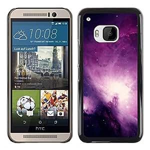 TECHCASE**Cubierta de la caja de protección la piel dura para el ** HTC One M9 ** Universe Purple Galaxy Stars Night Sky