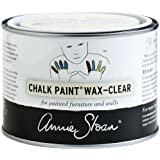 CHALK PAINT (R) Wax - Clear (500mL) - Annie Sloan - Transparent - Matte finish - Seals and protects furniture