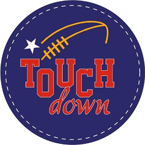 Touch Down Amercian Football Sport Round Hochwertigen Auto-Autoaufkleber 12 x 12 cm