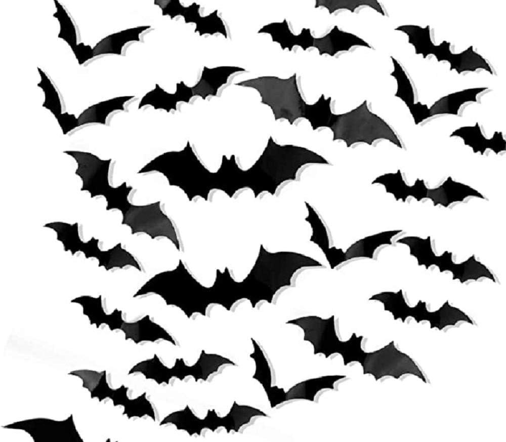 2 Halloween Window Stickers Party Decoration Bats Trick Or Treat Spooky