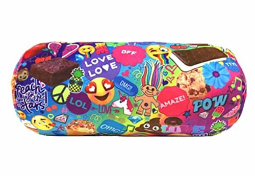 Top Trenz Microbead Bolster Pillow Emoji -Pow Print - Gumball scented by Top Trenz Inc