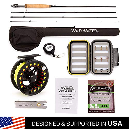 Wild Water Fly Fishing Complete 5/6 Starter Package (Best Trout Fly Reel For The Money)