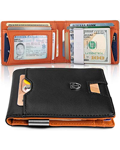 TRAVANDO Slim Wallet with Money Clip RFID Blocking Wallet AUSTIN Credit Card Holder | Travel Wallet | Minimalist Mini Wallet Bifold for Men Mens Mans Gift Box (Best Card Holder Wallet 2019)