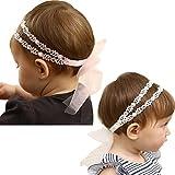Baby Girl Super Elastic Headband,Big Lace Petals