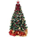 Aneco 6 Pieces Red Buffalo Plaid Christmas Bows