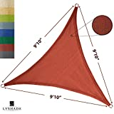 LyShade Sun Shade Sail Canopy Triangle 9'10'' x 9'10'' x 9'10'' (Terracotta) - UV block for Patio and Outdoor