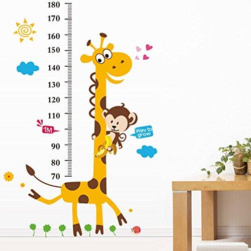 [Ayutthaya shop Height Ruler Home Decoration Sticker wallpaper Vinilos Paredes Kids Height Chart Wall Sticker Home Decor Cartoon] (Halloween Animatronics Sale)