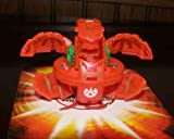 BAKUGAN SEASON 2 BAKUNEON SINGLE LOOSE TRANSLUCENT PYRUS RED ALPHA PERCIVAL 500G