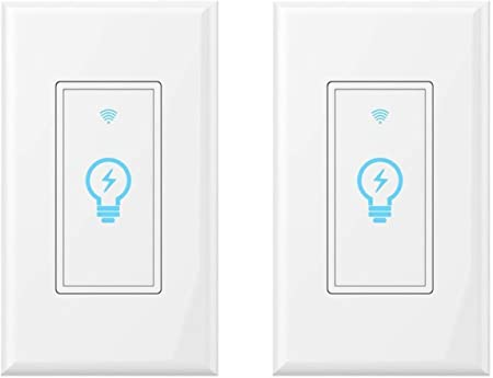 Smart Light Switch, Compatible With Amazon Alexa, Google Home and IFTTT, on symbol for pilot light, symbol for muffler, symbol for headlight, symbol for hammer, symbol for remote control, symbol for cable, symbol for button, symbol for distributor, symbol for screw, symbol for brake, symbol for condenser, symbol for wall light, symbol for faucet, symbol for fluorescent light, symbol for fuel tank, symbol for tachometer, symbol for electric outlet, symbol for light resistor, symbol for frame, symbol for grill,