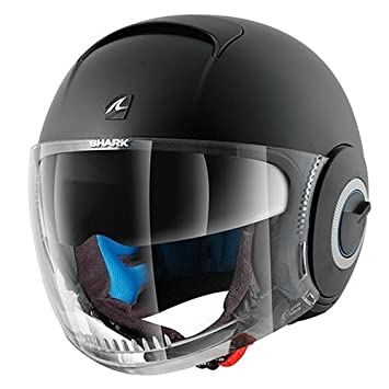 Shark Nano Casco Jet, Negro Mate, M (57/58)