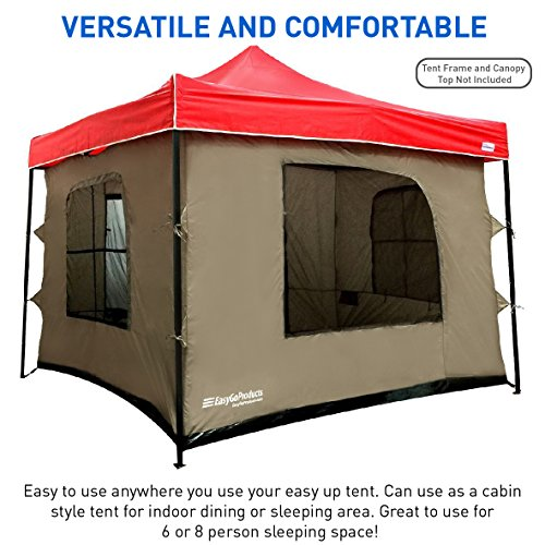 Camping Tent attaches to Any 10'x10' Easy Up Pop Up for sale  Delivered anywhere in Canada