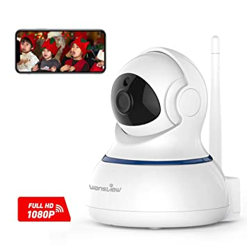 Wansview 1080P FHD IP Camera, Wireless Home Security Surveillance WiFi  Camera for Baby/Elder/Pet/Nanny Monitor, Pan/Tilt, Two-Way Audio & Night