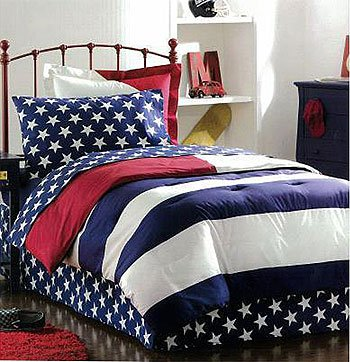 Well-known Amazon.com: American Flag Bedding Set 8 Pc Full Comforter Sheets  DW79