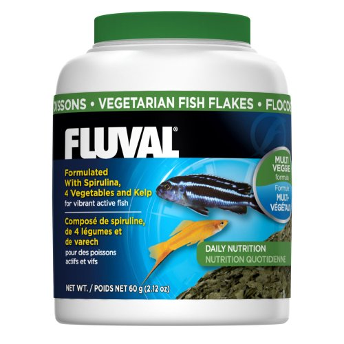 60gm Fluval Vegetarian Flakes Fish Food, 2.12-Ounce