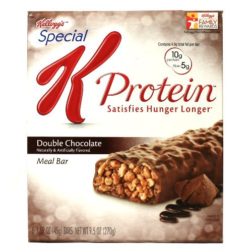 Kellogg's Special K Protein Meal Replacement Bar, Double Chocolate - Box of 6, 2 Pack