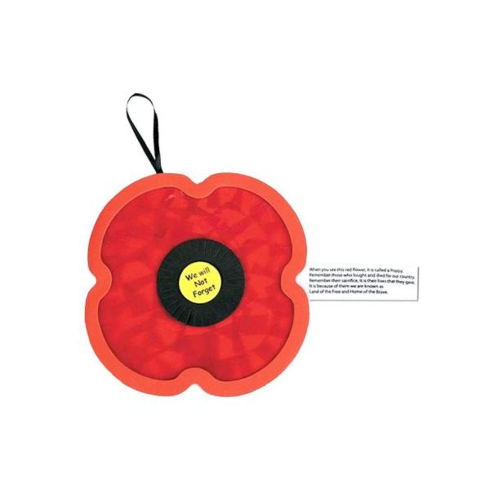 tissue paper poppy craft kit set of 24