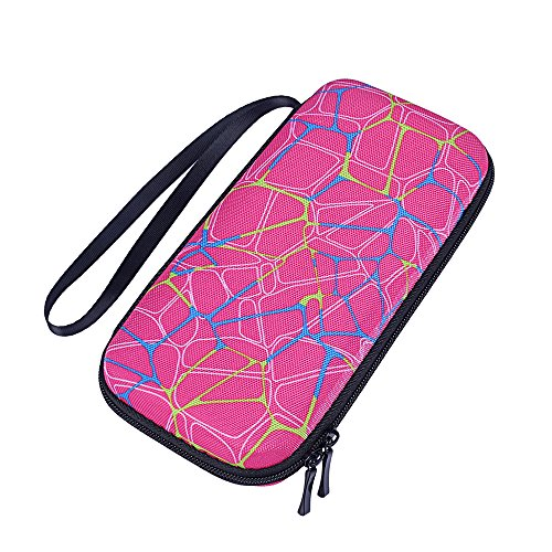 For Texas Instruments TI-Nspire CX / Nspire CX CAS Graphing Calculator Hard Carry Case Travel Bag Protective Pouch Box -Extra Room for Pen and Accessories (Hard Pink)