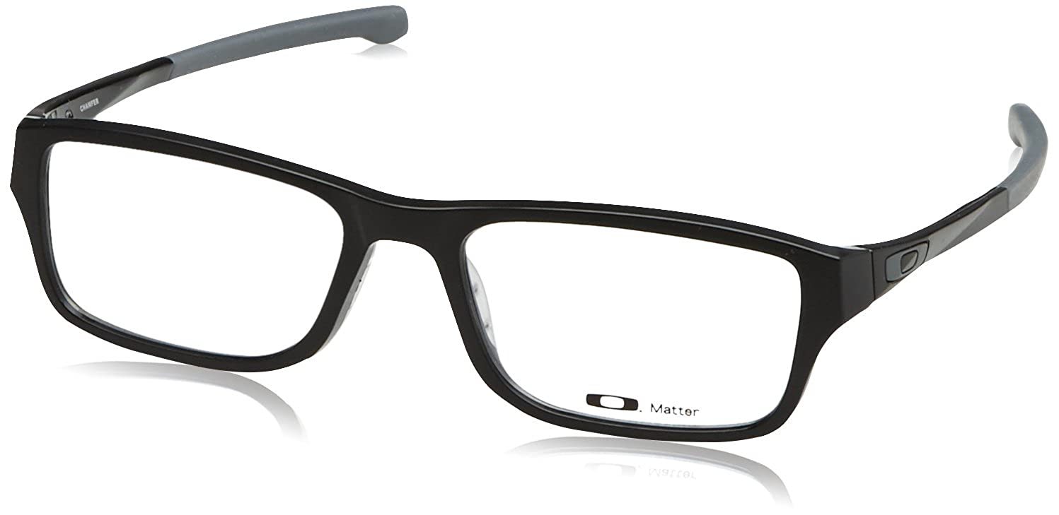 1814d58b2d Oakley Chamfer OX8039-0151 Eyeglasses Satin Black Clear Demo 51 18 at  Amazon Men s Clothing store