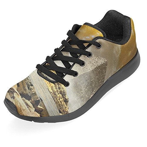 Casual Clouds Easy Storm Fog Womens Orange Multi Over Running Jogging Go Pyramids 1 InterestPrint Shoes Sneaker and Comfort Walking Lightweight Running Egyptian 86wYWq4