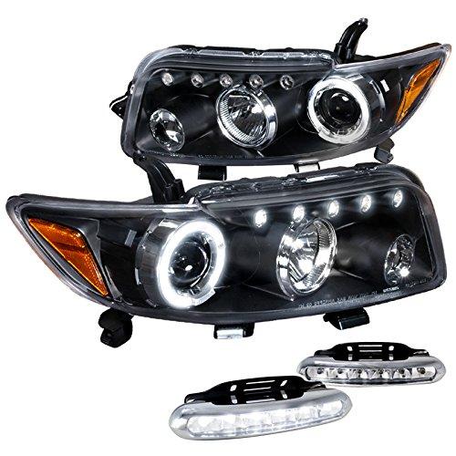 Scion Xb Wagon 5Dr, Black Halo Led Projector Headlights, Led Bumper Drl (5dr Wagon)