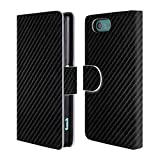 xperia z3 carbon case - Official Alyn Spiller Plain Carbon Fiber Leather Book Wallet Case Cover for Sony Xperia Z3 Compact / D5803