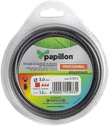 50 - MT Papillon Filo Nylon Professional ALLUMINIUM SEGHETTATO D Sezione Quadra 3,0 MM
