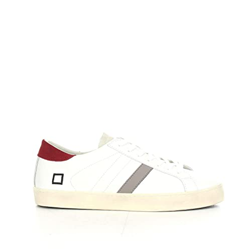 D.A.T.E. Sneakers Uomo Hill Low Calf White Red  Amazon.it  Scarpe e ... 13138a488a0
