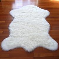 Classic White Sheepskin / Polar Bear Pelt Shape Rug - New From France (2x4, 3x5 & 5x7) (2x4 (actual 28 x 43))