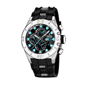 FESTINA F16528/5 - Reloj de caballero de cuarzo, correa de caucho color negro