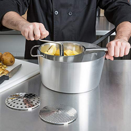 Rotary Food Mill with 4 milling Disks, 18/10 Stainless Steel Hand Crank Manual Grinder for Vegetable Mashed Potato Tomato Applesauce Dishwasher Safe by ROYDOM by ROYDOM (Image #4)