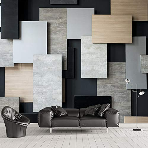 YUANLINGWEI Superposición 3D Vision De Bloques Rectangulares Mural ...