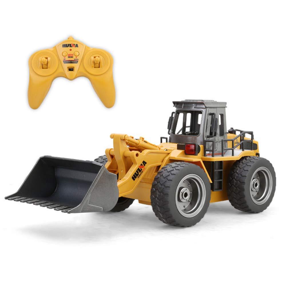 Ranoff 1:18 RC Truck 6CH Bulldozer Tractor Remote Control Simulation Constructio Toys (Yellow) by Ranoff