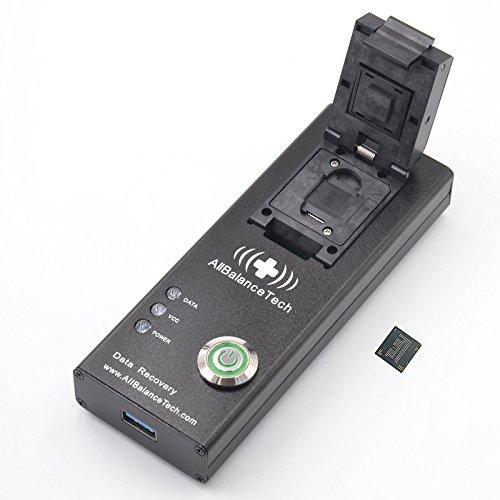 Sam Sockets (BGA162 BGA186 Memory Chip-off Adapter, ALLSOCKET eMCP162/186-USB3.0 Socket FBGA162/186 eMCP Memory Data Forensic Extractor Retrieve SMS Cameras Photos Video Contacts APP Water Damage Cellphone)