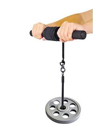 Muñeca antebrazo Roller pesas ejercicios Gym Bar ARM entrenador de brazos de grosor: Amazon.es: Deportes y aire libre