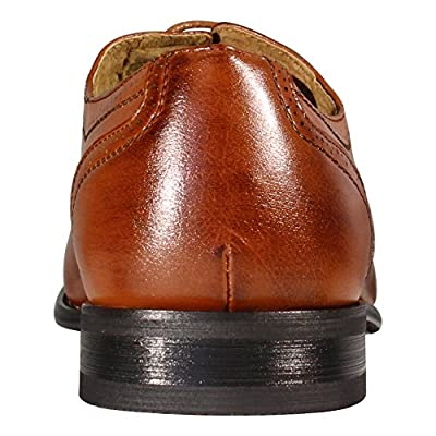 Delli Aldo Men's M-19006 Brown Wing Tip Lace Up Leather Lining Oxford Dress Shoes